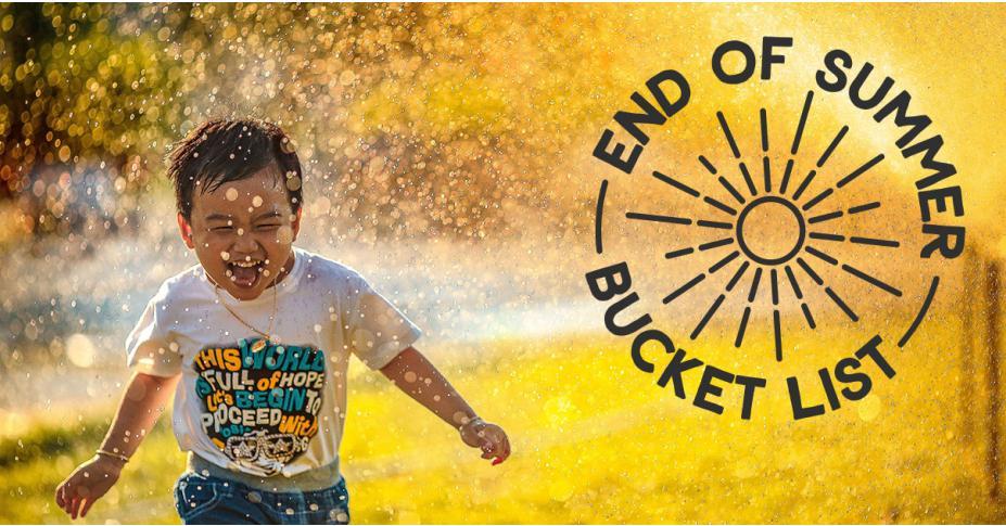 End of Summer Bucket List for Kids