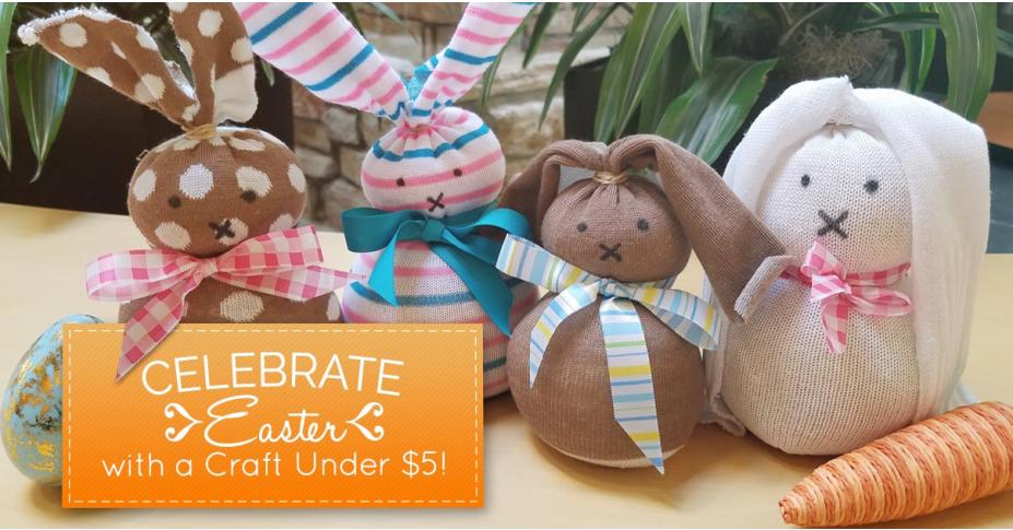 Crafts for Kids: Make a No-Sew Reading Bunny for under $5!