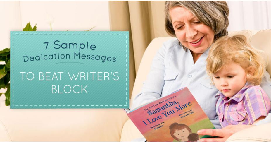 7 Sample Dedication Messages to Beat Writer's Block