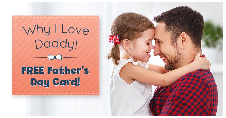 Why We Love Dad + Free Downloadable Father's Day Card