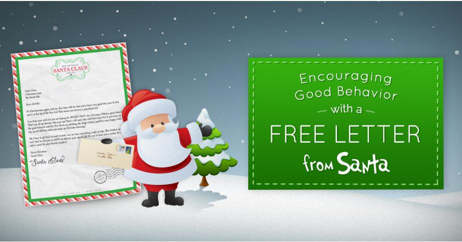 Encourage Good Behavior with a Free Letter from Santa!