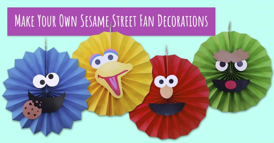 Celebrate Elmo's birthday with easy DIY fan decorations!