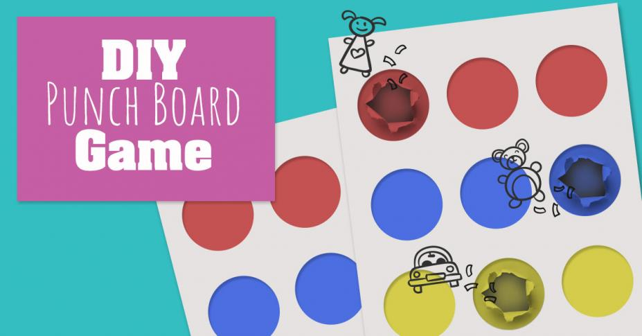 DIY Punch Board Game for Kids' Parties