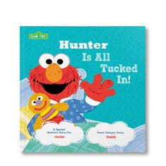 All Tucked In On Sesame Street! Personalized Paperback Book