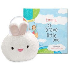 Be Brave Little One and Baby Bunny Easter Basket Gift Set