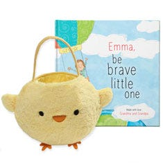Be Brave Little One and Baby Chick Easter Basket Gift Set