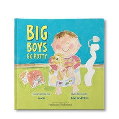 Big Boys Go Potty Personalized Book