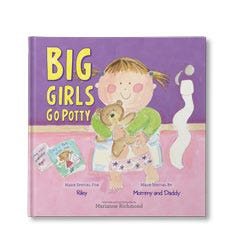 Big Girls Go Potty Personalized Book