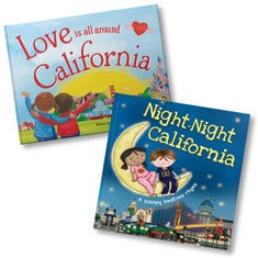 Love Is All Around California and Night-Night California Book Bundle