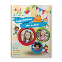 Find Me If You Can Birthday Edition (For Three Children) Personalized Book