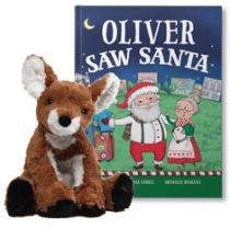 You Saw Santa and Cozy Doe Plush Personalized Gift Set