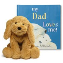 My Dad Loves Me and Cozy Dog Plush Gift Set