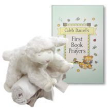 My First Book of Prayers and Winky Lamb and Blanket Gift Set