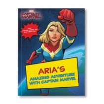 Your Amazing Adventures with Captain Marvel Personalized Paperback Book