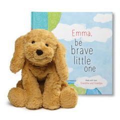 Be Brave Little One and Cozy Dog Plush Gift Set