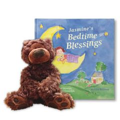 Bedtime Blessings and Teddy Bear Personalized Gift Set