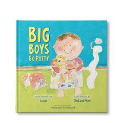 Big Boys Go Potty Personalized Book