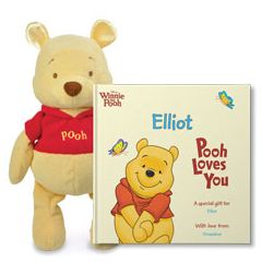 Disney's Pooh Loves You and Winnie the Pooh Plush Gift Set
