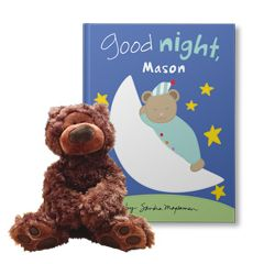 Good Night to You and Teddy Bear Personalized Gift Set
