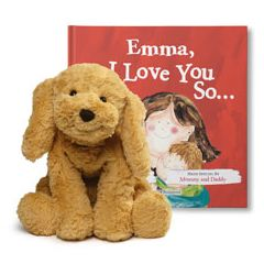 I Love You So and Cozy Dog Plush Gift Set