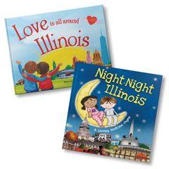 Love Is All Around Illinois and Night-Night Illinois Book Bundle