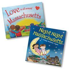 Love Is All Around Massachusetts and Night-Night Massachusetts Book Bundle
