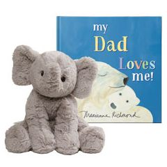 My Dad Loves Me and Elephant Plush Personalized Gift Set