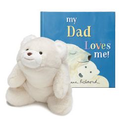 My Dad Loves Me and Polar Bear Plush Personalized Gift Set