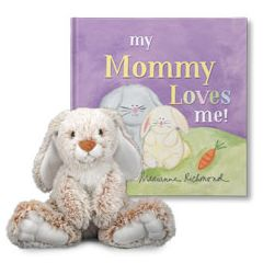 My Mom Loves Me and Rabbit Plush Personalized Gift Set