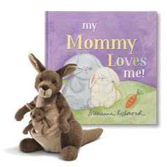 My Mom Loves Me and Kangaroo Plush Personalized Gift Set
