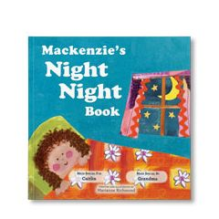 Night Night Personalized Paperback Book for Girls