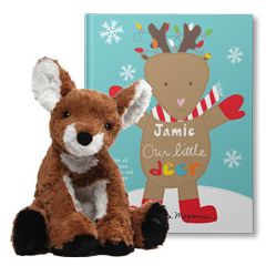 Our Little Deer and Cozy Doe Plush Personalized Gift Set
