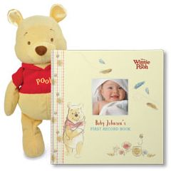 Disney's Winnie the Pooh: Baby's First Record Book and Winnie the Pooh Plush Gift Set