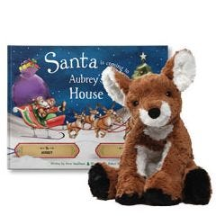 Santa is Coming to My House and Cozy Doe Plush Gift Set