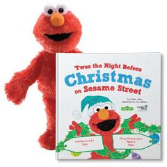 'Twas the Night before Christmas on Sesame Street! and Elmo Plush Personalized Gift Set