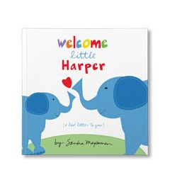 Welcome Little One Personalized Paperback Book