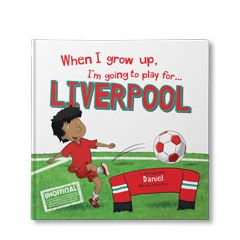 When I Grow Up, I'm Going to Play for Liverpool Personalised Book