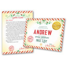 Dear Santa Personalized Letter and Certificate - 1 Child