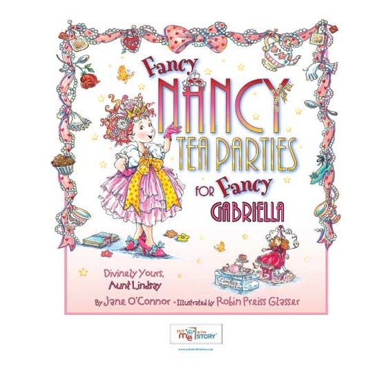 Fancy Nancy Tea Parties Personalized Book Put Me In The Story