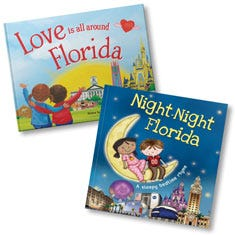 Love Is All Around Florida and Night-Night Florida Book Bundle