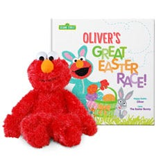 Sesame Street: The Great Easter Race and Elmo Plush Personalized Gift Set