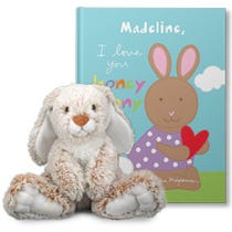 I Love You Honey Bunny Personalized Gift Set