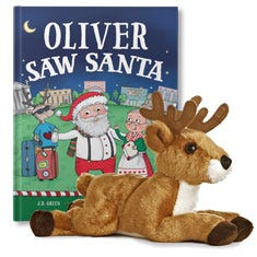 You Saw Santa and White Tailed Deer Plush Personalized Gift Set