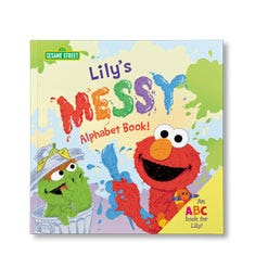 Sesame Street: The Messy Alphabet Personalized Paperback Book