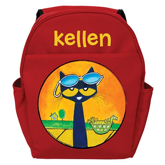 Pete The Cat Sunglasses Red Toddler Backpack