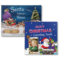 Santa is Coming to My House and Christmas Coloring Book Bundle