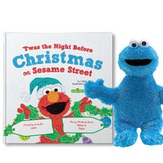 'Twas the Night before Christmas on Sesame Street! Cookie Monster Personalized Gift Set