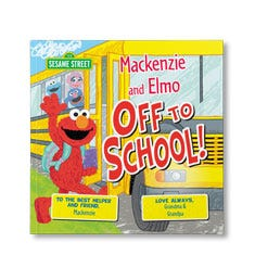 Sesame Street: Off to School Personalized Paperback Book