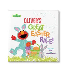 Sesame Street: The Great Easter Race Personalized Paperback Book