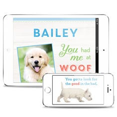 You Had Me At Woof Personalized Downloadable eBook